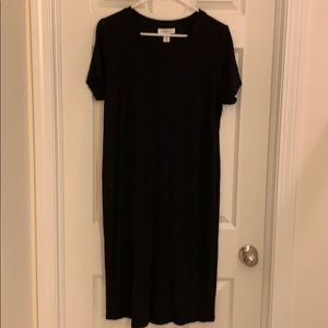 Women's Motherhood Maternity Ribbed Dress